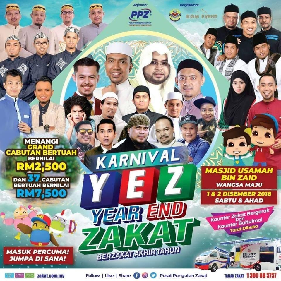 Zakat News: YEAR END ZAKAT CARNIVAL on 1-2 December 2018 @ Wangsa Maju,Malaysia.